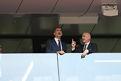 July 1, 2018 - Moscow, Russia - July 01, 2018, Russia, Moscow, FIFA World Cup 2018, the playoff round. Football match Spain - Russia at the stadium Luzhniki. King of Spain; Philip 6; vi. (Credit Image: © Russian Look via ZUMA Wire)