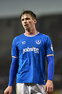 Portsmouth Forward, Oliver Hawkins (9) goal scorer of 2 goals during the EFL Sky Bet League 1 match between Portsmouth and Northampton Town at Fratton Park, Portsmouth, England on 30 December 2017. Photo by Adam Rivers.