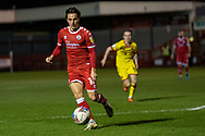 Crawley Town forward Tom Nichols (#16) on the ball during the EFL Sky Bet League 2 match between Crawley Town and Walsall at The People's Pension Stadium, Crawley, England on 16 March 2021.
