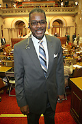 Sergeant of Arms, Wayne Jackson at the Swearing-in of the Honorable David A. Patterson at the 55th Governor of New York  at The New York State Capitol in the Assembly Chambers on March 17, 2008