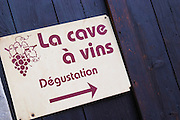 La cave a vin, the wine cellar, wine tasting. La Liquiere village. Faugeres. Languedoc. France. Europe.