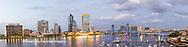 63412-01015 St. Johns River and Jacksonville Florida skyline at twilight Jacksonville, FL