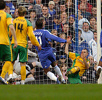 Photo: Leigh Quinnell.<br /> Chelsea v Norwich City. The FA Cup. 17/02/2007.<br /> Didier Drogba(11) scores for Chelsea.
