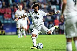 August 16, 2018 - Tallinn, Estonia - Marcelo of FC Real Madrid in action at UEFA Super Cup 2018 in Tallinn..The UEFA Super Cup 2018 was played between Real Madrid and Atletico Madrid. Atletico Madrid won the match 4-2 during extra time after and took the trophy after drawing at 2-2 during the first 90 minute of game play. (Credit Image: © Hendrik Osula/SOPA Images via ZUMA Wire)