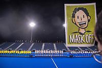 TOKIO - Masker, mondkap, mondkapje  Ceremony, België met goud, ,  na  de hockey finale mannen, Australie-Belgie (1-1), België wint shoot outs en is Olympisch Kampioen,  in het Oi HockeyStadion,   tijdens de Olympische Spelen van Tokio 2020.   COPYRIGHT KOEN SUYK
