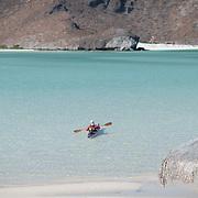 Kayaker in Balandra Bay. La Paz, BCS.