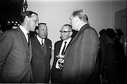 15/11/1965<br /> 11/15/1965<br /> 15 November 1965<br /> Press conference regarding Material handling Exhibition at the Shelbourne Hotel, Dublin. Picture shows Mr James daly; Mr J.P. Jameson; Mr Patrick Lynch and Mr R.J. Walby.