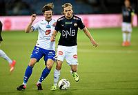 Fotball , 11. september 2015 ,   Eliteserien , Tippeligaen <br /> Strømsgodset - Haugesund 5-0<br /> Iver Fossum , SIF<br /> Kristoffer Haraldseid , Haugesund