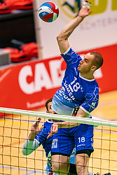 Dennis Borst of Lycurgus in action during the semi cupfinal between Active Living Orion vs. Amysoft Lycurgus on April 03, 2021 in Saza Topsportshall Doetinchem