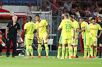 Rene Girard ( Entraineur coach Nantes ) et equipe<br /> SOCCER : Dijon vs Nantes - League 1 - 08/13/2016<br /> <br /> Norway only