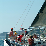 August 11, 2007 -- FALMOUTH, Maine. The start of the Monhegan Race.   Photo by Roger S. Duncan.  ...