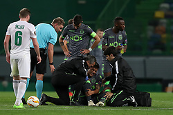 December 13, 2018 - Lisbon, Portugal - Sporting's forward Fredy Montero from Colombia gets injury during the UEFA Europa League Group E football match Sporting CP vs FC Vorskla Poltava at Alvalade stadium in Lisbon, Portugal on December 13, 2018  (Credit Image: © Pedro Fiuza/NurPhoto via ZUMA Press)