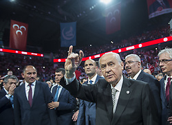 June 16, 2018 - Istanbul, Turkey - Turkey's National Movement Party leader DEVLET BAHCELI during a rally in Istanbul. Turkey will hold two elections: parliamentary and presidential, on June 24. (Credit Image: © Depo Photos via ZUMA Wire)