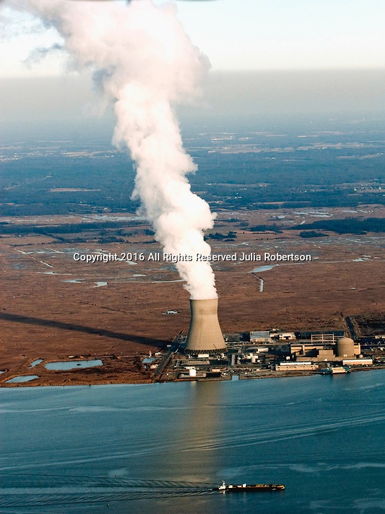 Aerial view of <br /> PSEG Nuclear  Hope Creek Nuclear Generating Stations in Lower Alloways Creek, NJ