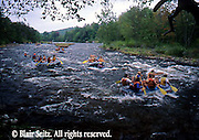 PA landscapes, Kayaks on Lehigh River, PA
