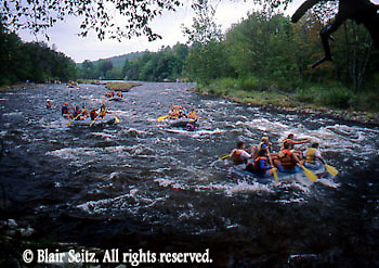 PA landscapes, Kayaks on Lehigh River, PA