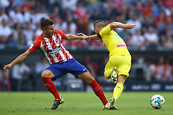 August 1, 2017 - Munich, Germany - Lucas Hernandez of Atletico de Madrid and Dries Mertens of Napoli durign the first Audi Cup football match between Atletico Madrid and SSC Napoli in the stadium in Munich, southern Germany, on August 1, 2017. (Credit Image: © Matteo Ciambelli/NurPhoto via ZUMA Press)