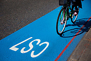 Barclays Cycle Superhighways are safe, fast, direct routes from outer London into central London. Here the CS7 route is one of the first two routes which opened on 19th July 2010, with 10 more in construction or planning. Cycling in London is becoming increasingly popular and the Cycle Superhighway will make it far safer for cyclists on London's busy streets.