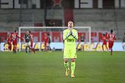Fussball: 2. Bundesliga, FC St. Pauli - VFL Bochum, Hamburg, 28.01.2021<br /> Jubel von Torwart Manuel Riemann (Bochum) nach dem Treffer zum 2:2<br /> © Torsten Helmke