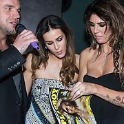 NLD/Amsterdam/20140410 - Presentatie Playboy met Melisa Schaufeli, partner Andy van der Meyde en vriendin Lammy