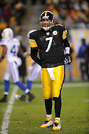 Ben Roethlisberger of the Pittsburgh Steelers during a loss to Indianapolis 24-20 on Sunday, Nov. 9, 2008.