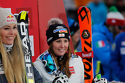 05.12.2015, East Summit Course, Lake Luise, CAN, FIS Weltcup Ski Alpin, Lake Luise, Damen, Abfahrt, Rennen, im Bild v.l. Lindsey Vonn (USA), Cornelia Huetter (AUT, 3. Platz) // winner Lindsey Vonn of the USA ( L ), 3rd placed Cornelia Huetter of Austria ( R ) during the race of ladies downhill of the Lake Luise FIS Ski Alpine World Cup at the East Summit Course in Lake Luise, Canada on 2015/12/05. EXPA Pictures © 2015, PhotoCredit: EXPA/ SM<br /> <br /> *****ATTENTION - OUT of GER*****