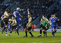 Photo: Steve Bond/Richard Lane Photography. Leicester City v Huddersfield Town. Coca Cola League One. 24/01/2009. Steve Howard header is nodded home by Jack Hobbs