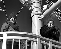 SAS Students on the upper deck of a tourist pirate ship on Lake Ashi. Image taken with a Leica T camera and 18-56 mm lens.