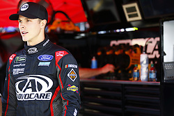 April 13, 2018 - Bristol, Tennessee, United States of America - April 13, 2018 - Bristol, Tennessee, USA: Trevor Bayne (6) hangs out on pit road before qualifying for the Food City 500 at Bristol Motor Speedway in Bristol, Tennessee. (Credit Image: © Chris Owens Asp Inc/ASP via ZUMA Wire)