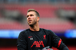 Adrian of Liverpool warm up prior to kick-off- Mandatory by-line: Nizaam Jones/JMP - 29/08/2020 - FOOTBALL - Wembley Stadium - London, England - Arsenal v Liverpool - FA Community Shield