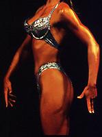 Fitness, illustrasjon, kropp, sexy, muskler, bikini, brun,  rumpe