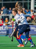 AMSTELVEEN - Sarah Jaspers (SCHC) heeft gescoord tijdens de competitie hoofdklasse hockeywedstrijd dames, Pinoke-SCHC (1-8) . COPYRIGHT KOEN SUYK