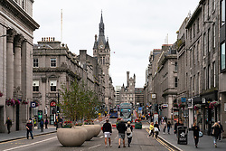 View along pedestrianised Union Street in Aberdeen city centre, Scotland, UK