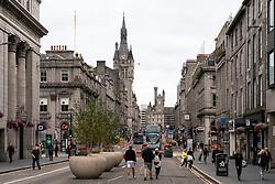 View along pedestrianised Union Street in Aberdeen city centre, Scotland, UK