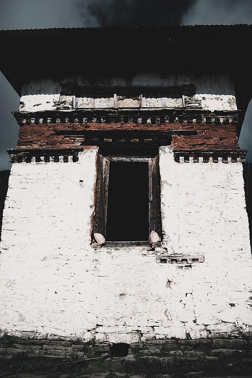 A monastic outbuilding on the Druk mountain Path in Bhutan.