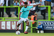 Forest Green Rovers Reuben Reid(26) shoots at goal during the EFL Sky Bet League 2 match between Forest Green Rovers and Stevenage at the New Lawn, Forest Green, United Kingdom on 21 August 2018.
