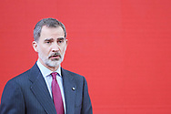 King Felipe VI of Spain attends the delivery of Accreditation of the 7th edition of 'Honorary Ambassadors of the Spain Brand' at El Pardo Royal Palace on March 3, 2020 in Madrid, Spain