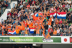 Dutch supporters - Freestyle Grand Prix Dressage - Alltech FEI World Equestrian Games™ 2014 - Normandy, France.<br /> © Hippo Foto Team - Jon Stroud<br /> 25/06/14