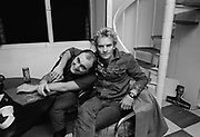 Sting and Alexi Sayle at Island Records Basing street Studio - 1982