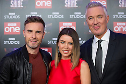(left to right) Gary Barlow, Dannii Minogue and Martin Kemp attend the launch of the new BBC One Saturday night entertainment show, Let it Shine, at the Ham Yard Hotel, London.