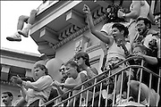 'The San Francisco Gay & Lesbian Freedom Day Parade: 1984-1990'<br /> <br /> We photographed the 'San Francisco Gay Parade' from 1984–1990, and recognized that given our skills and interests in telling a story thru a documentary photo essay, we could and should document the gay community fighting for its civil rights, for equality, for understanding and awareness, and for coming together as a community - and this became our project's focus.<br /> <br /> We were after three objectives -- to create a photo essay that would capture the love and commitment that we observed again and again by couples and by the community organizations; to create a moving and heartfelt portrait of the gay community through this annual parade; and to create a historical archive of what it was like when gays and lesbians had the courage to march peacefully on Market Street and in the Castro District, demanding their equal rights.