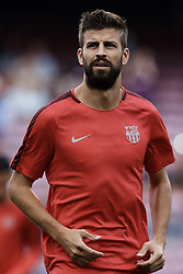 September 18, 2018 - Barcelona, Barcelona, Spain - Gerard Pique of FC Barcelona looks on prior to the UEFA Champions League group B match between FC Barcelona and PSV Eindhoven at Camp Nou on September 18, 2018 in Barcelona, Spain  (Credit Image: © David Aliaga/NurPhoto/ZUMA Press)