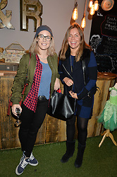 Left to right, ELLIE SHEPHERD and EMILY HAMBRO at a Fondue evening hosted by Rose van Cutsem and her brother Tom Astor to celebrate the new ski Season with leading ski resort Meribel, Besson Clothing and ESF ski schools at Maggie & Rose, 58 Pembroke Road, London on 7th November 2016.