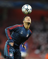 Bayern Munich's Thiago Alcantara - Photo mandatory by-line: Joe Meredith/JMP - Tel: Mobile: 07966 386802 19/02/2014 - SPORT - FOOTBALL - London - Emirates Stadium - Arsenal v Bayern Munich - Champions League - Last 16 - First Leg