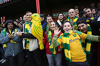 Photo: Rich Eaton.<br /> <br /> Tamworth FC v Norwich City. The FA Cup. 06/01/2007. Norwich fans celebrate their 4-1 victory over Tamworth