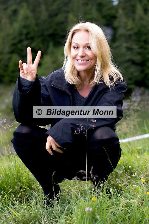 """Michelle in Pose beim Open Air-Festival """"Der Berg bebt!"""" vom 15.07.2017 auf dem Plaun Grond, Flims."""