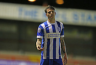 Glen Rea, Brighton defender during the Barclays U21 Premier League match between Brighton U21 and U21 West Bromwich Albion at the Checkatrade.com Stadium, Crawley, England on 25 January 2016.