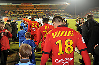 FOOTBALL - FRENCH CHAMPIONSHIP 2010/2011 - L2 - LEMANS FC v VANNES OC - 21/12/2010 - PHOTO JEAN MARIE HERVIO / DPPI - ILLUSTRATION LE MANS PLAYERS FOR THEIR LAST MATCH IN LEON BOLLEE STADIUM