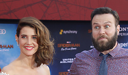 Cobie Smulders and Taran Killam at the World premiere of 'Spider-Man Far From Home' held at the TCL Chinese Theatre in Hollywood, USA on June 26, 2019.