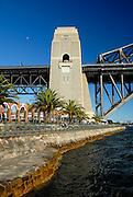 North-western Pylon of Sydney Harbour Bridge. Milsons Point, Sydney, Australia